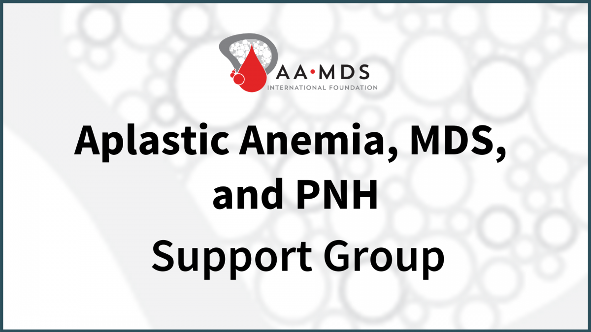 Introductory image: Aplastic Anemia, MDS, and PNH Virtual Support Group