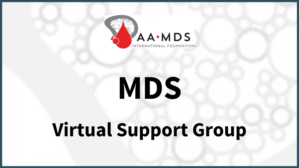 Introductory image: MDS Virtual Support Group
