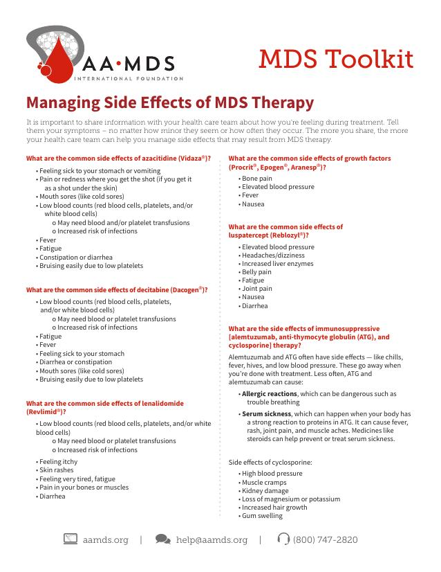 MDS Toolkit - Managing Side Effects of MDS Therapy (Thumbnail)