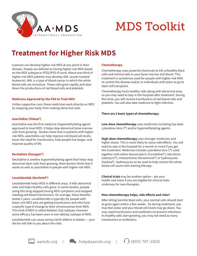 MDS Toolkit - Treatment for Higher Risk MDS (Thumbnail)