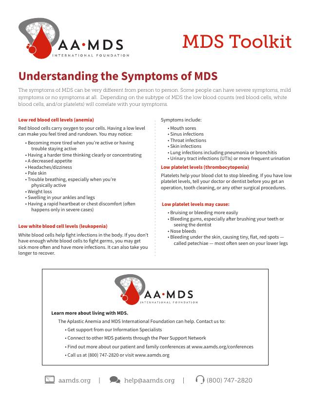 MDS Toolkit - Understanding the Symptoms of MDS (Thumbnail)