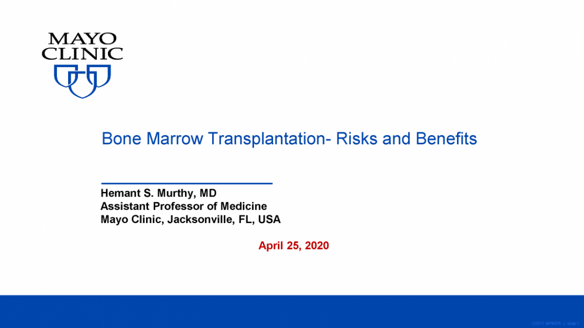 Bone Marrow Transplant - Spring Virtual Conference