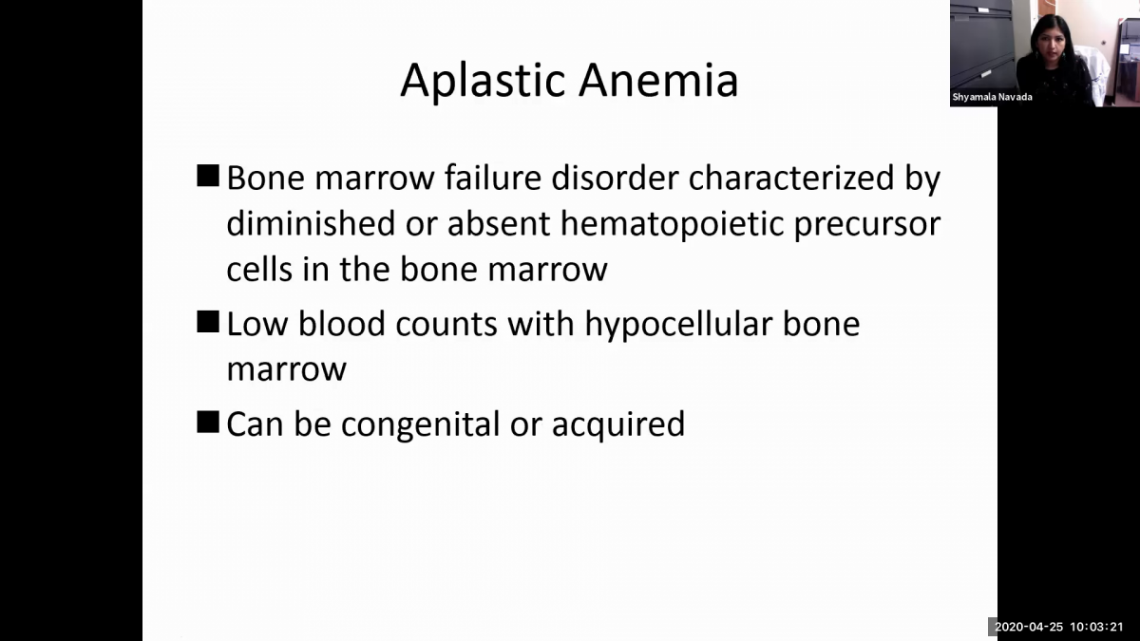Aplastic Anemia - AAMDSIF Spring Virtual Conference